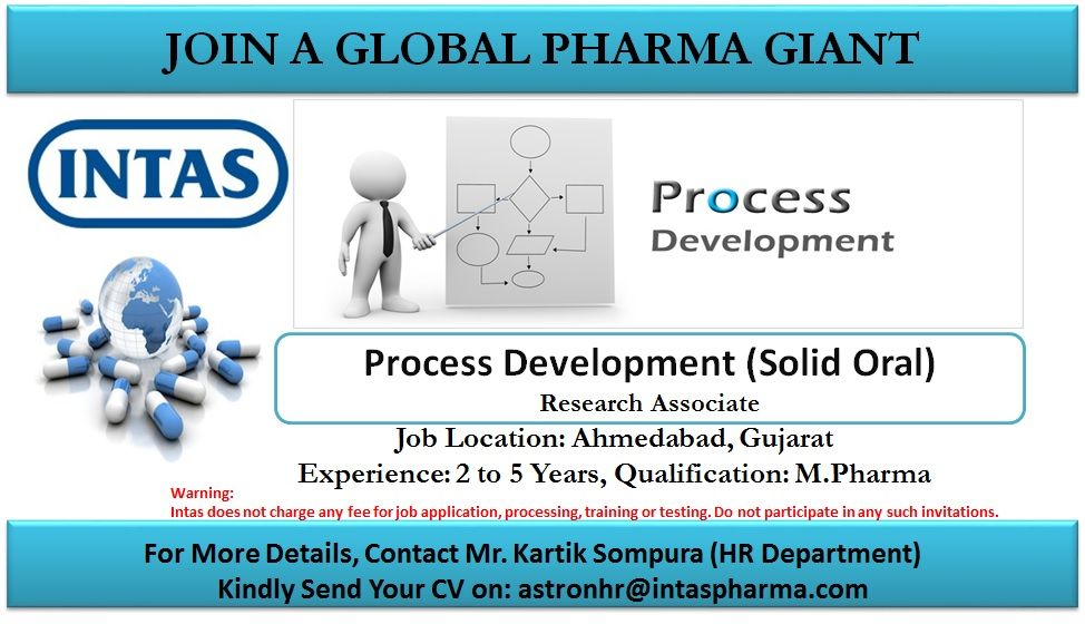 Intas Pharma Limited - Urgent Opening