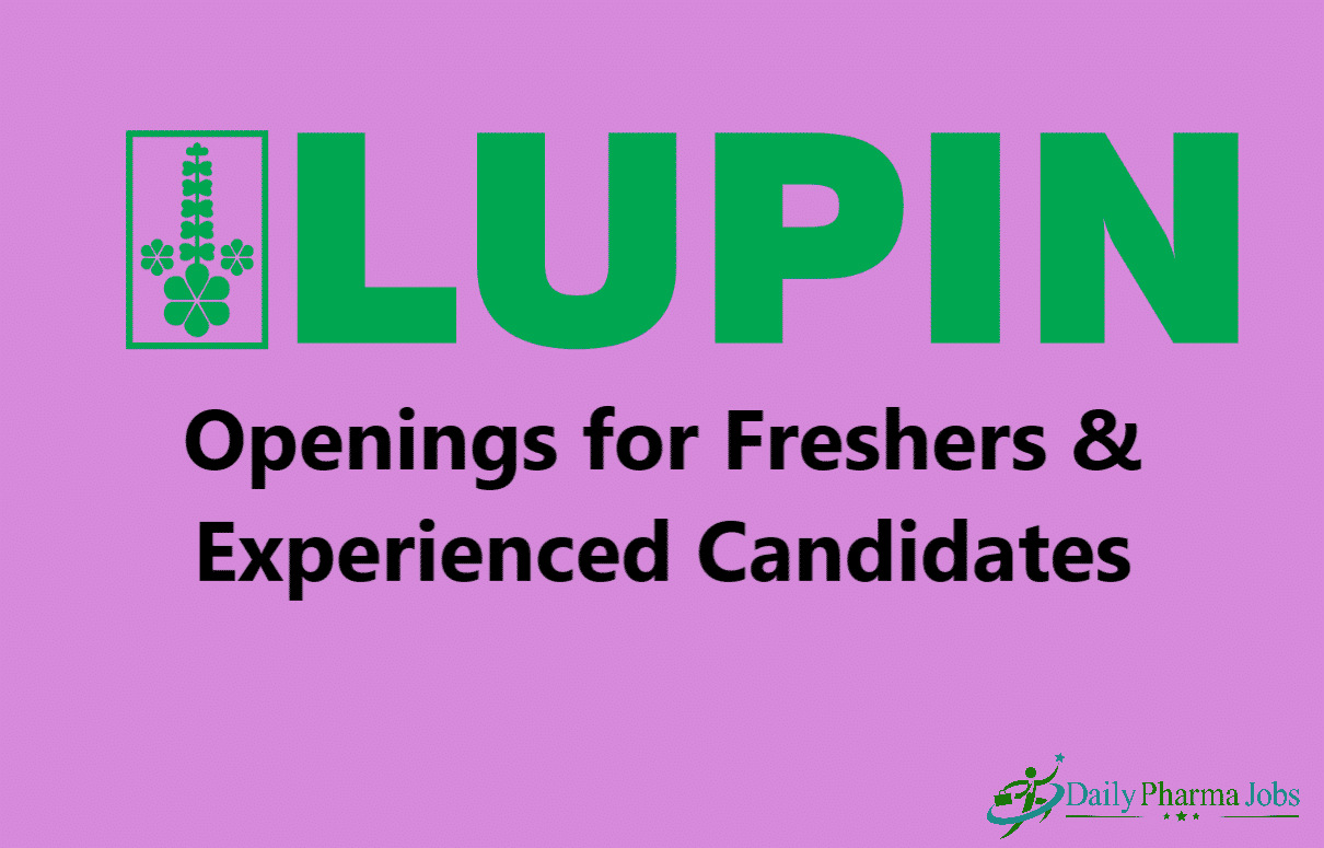 Lupin Limited – Urgent Openings
